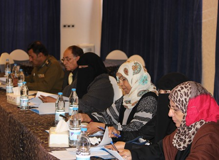 A workshop for government officials to work out a monitoring plan for the policy paper